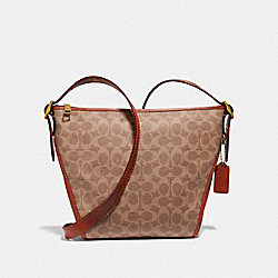 SMALL DUFFLETTE IN SIGNATURE CANVAS - B4/TAN RUST - COACH 69649