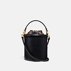 DRAWSTRING BUCKET BAG - BLACK/GOLD - COACH 69653