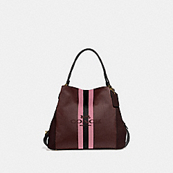 EDIE SHOULDER BAG 31 WITH HORSE AND CARRIAGE - GOLD/OXBLOOD - COACH 69815