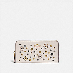 ACCORDION ZIP WITH SCATTERED RIVETS - B4/CHALK MULTI - COACH 69830