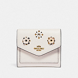 SMALL WALLET WITH SCATTERED RIVETS - WHITE - COACH 69846