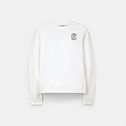SIGNATURE SHRUNKEN SWEATSHIRT - OPTIC WHITE - COACH 69934
