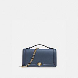 RILEY CHAIN CLUTCH - B4/DARK DENIM - COACH 69969