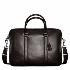 TRANSATLANTIC LEATHER ZIP TOP BRIEF