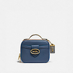 RILEY LUNCHBOX BAG IN COLORBLOCK - B4/DARK DENIM MULTI - COACH 704