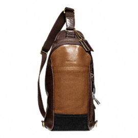 BLEECKER CONVERTIBLE SLING PACK IN COLORBLOCK LEATHER