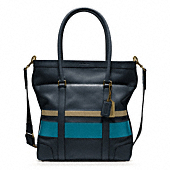 BLEECKER DEBOSSED PAINTED STRIPE TOTE