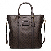 BLEECKER SIGNATURE MONOGRAM TOTE