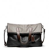 THOMPSON LEATHER COLORBLOCK FOLDOVER TOTE