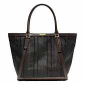 BLEECKER WOVEN LEATHER FULTON TOTE