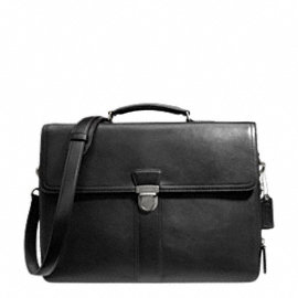 BLEECKER LEATHER FLAP BRIEF