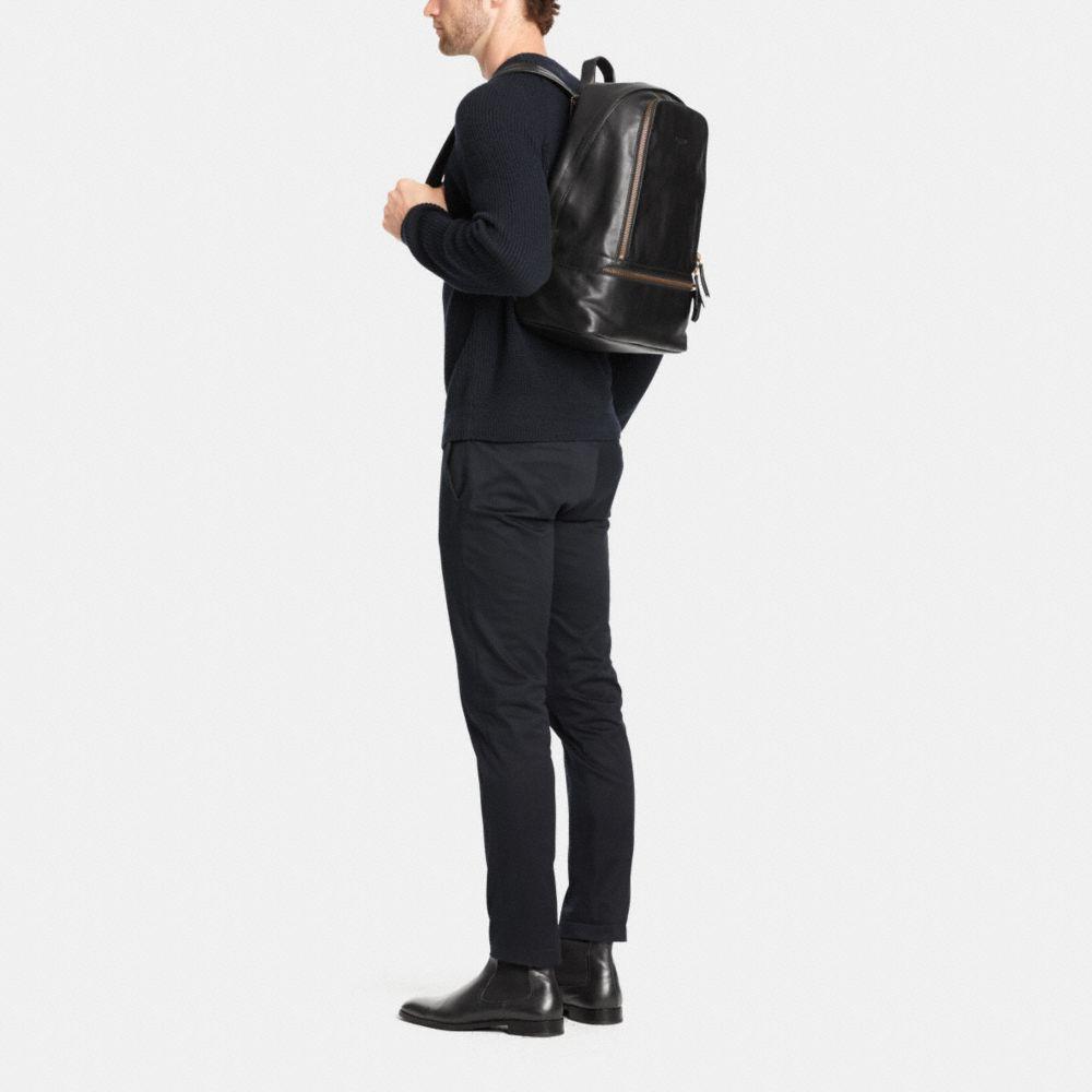 Bleecker Traveler Backpack in Leather - Alternate View M