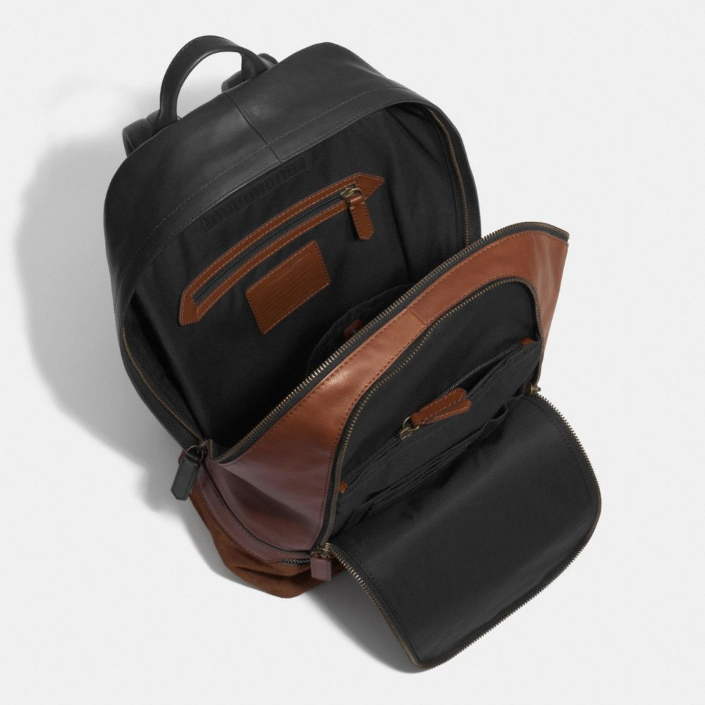 Bleecker Traveler Backpack in Mixed Leather - Alternate View A3