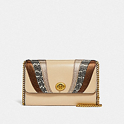MARLOW TURNLOCK CHAIN CROSSBODY WITH WAVE PATCHWORK - B4/IVORY MULTI - COACH 71479