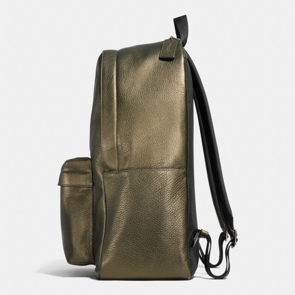 Campus Backpack in Metallic Pebble Leather - Alternate View A1