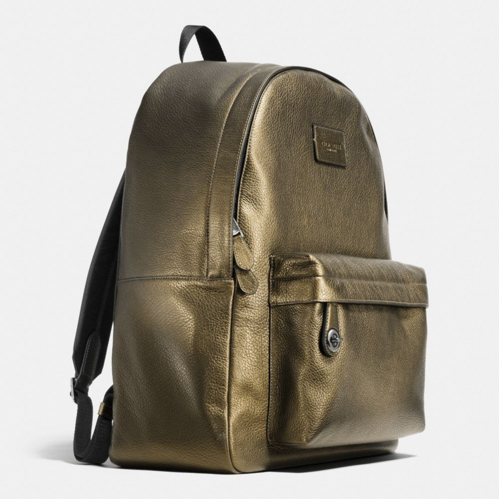 Campus Backpack in Metallic Pebble Leather - Alternate View A2