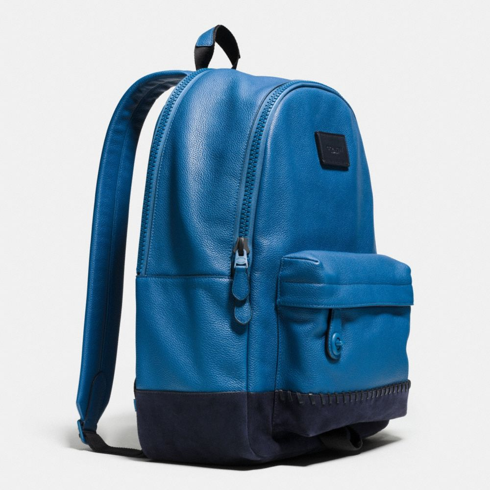 Modern Varsity Campus Backpack in Pebble Leather - Alternate View A2