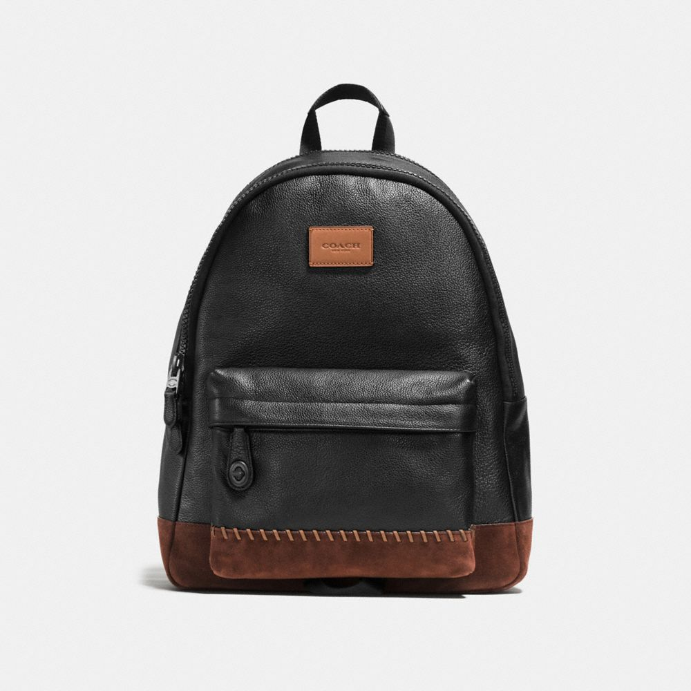 MODERN VARSITY CAMPUS BACKPACK IN PEBBLE LEATHER - Alternate View