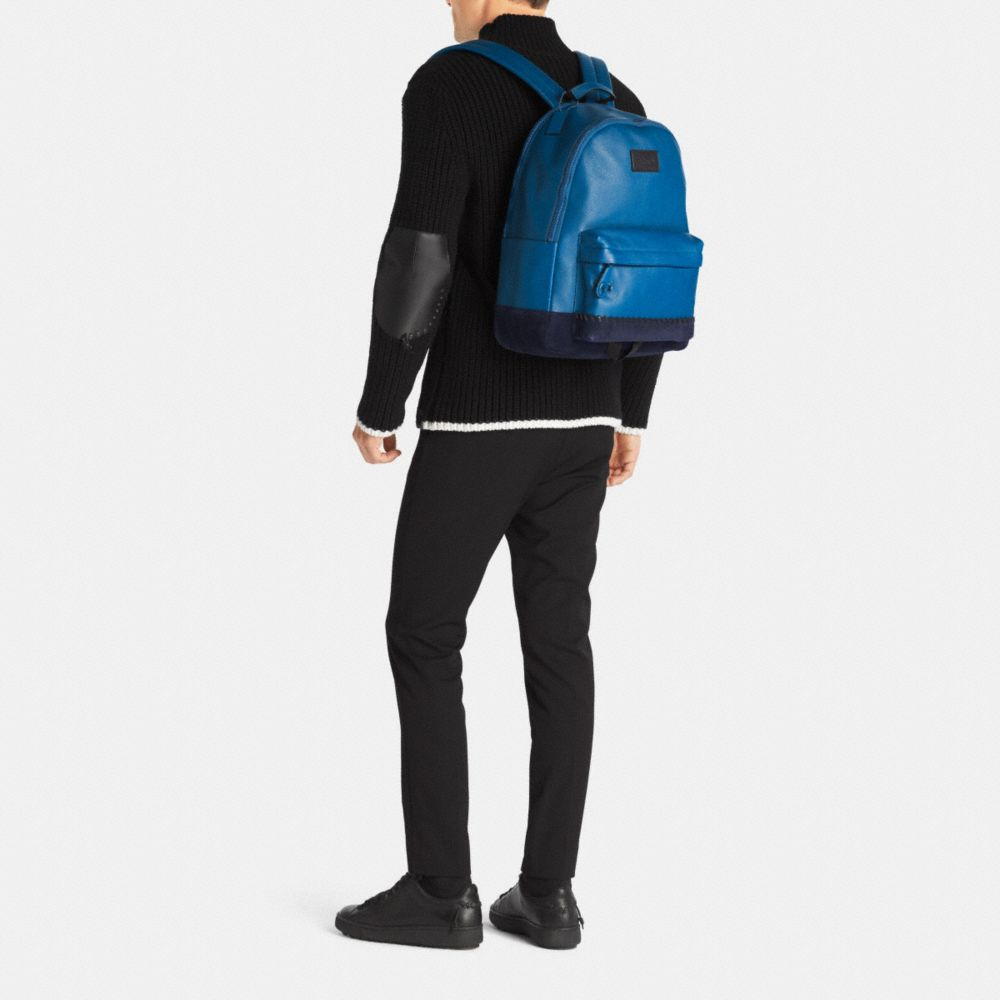 Modern Varsity Campus Backpack in Pebble Leather - Alternate View M