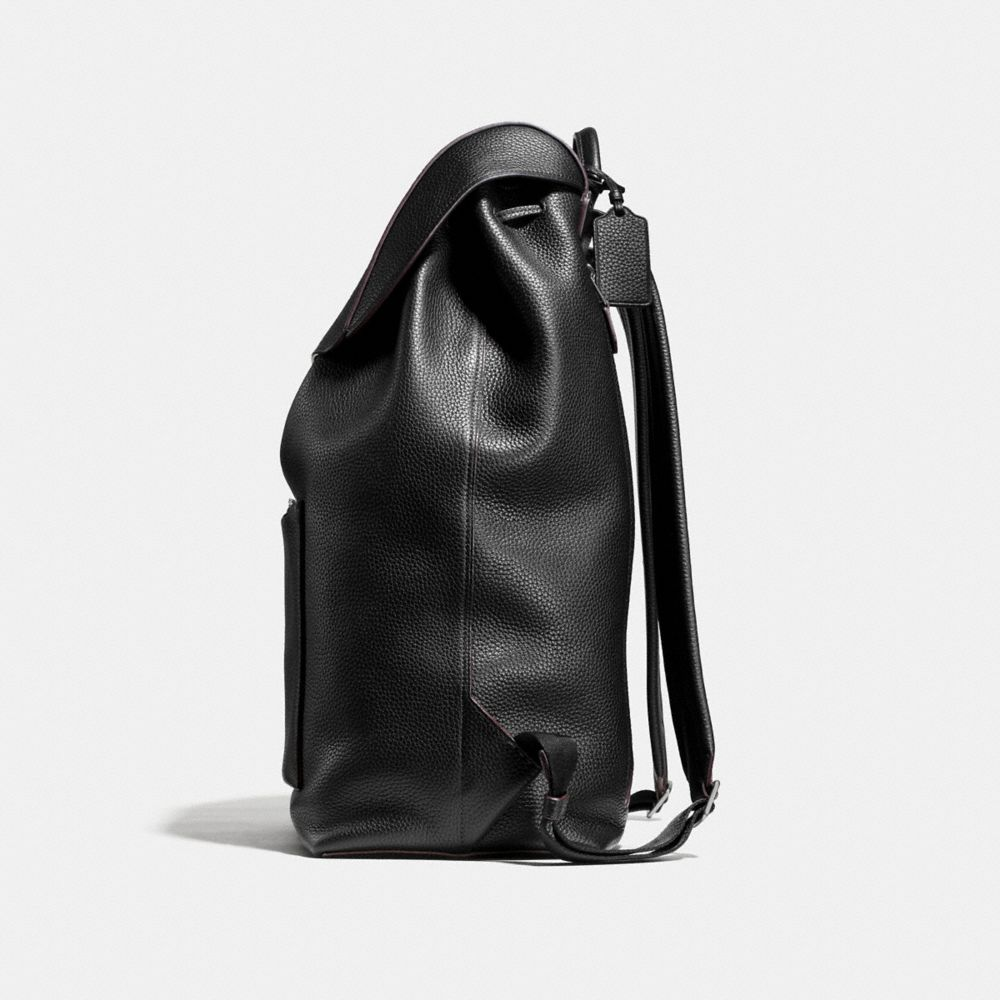Large Manhattan Backpack in Pebble Leather - Alternate View A1