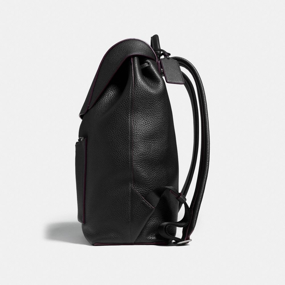 MANHATTAN BACKPACK IN PEBBLE LEATHER - Alternate View A1