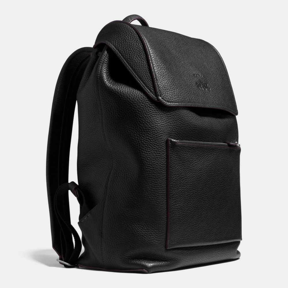MANHATTAN BACKPACK IN PEBBLE LEATHER - Alternate View A2