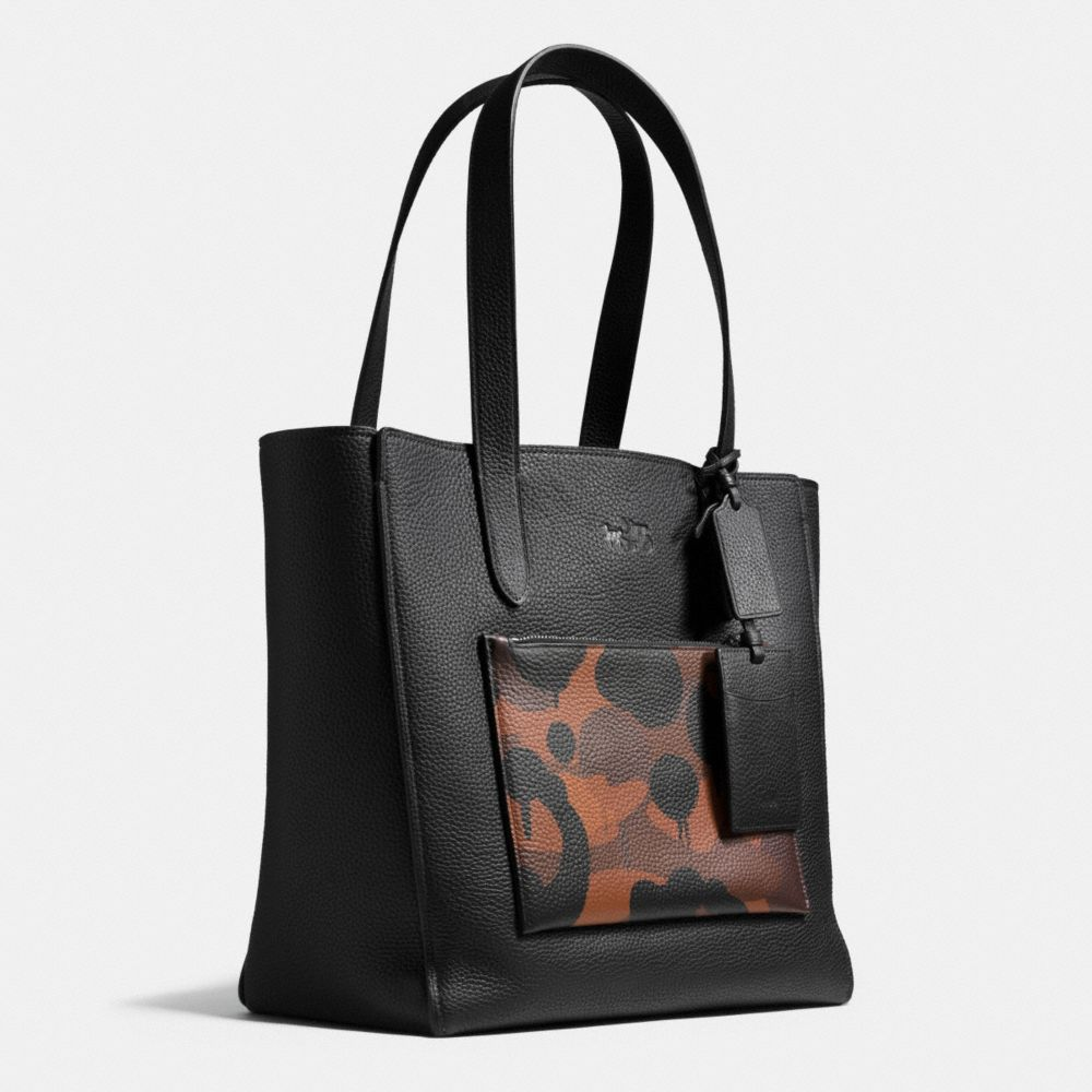 MANHATTAN TOTE IN WILD BEAST PRINT MIXED MATERIALS - Alternate View A2