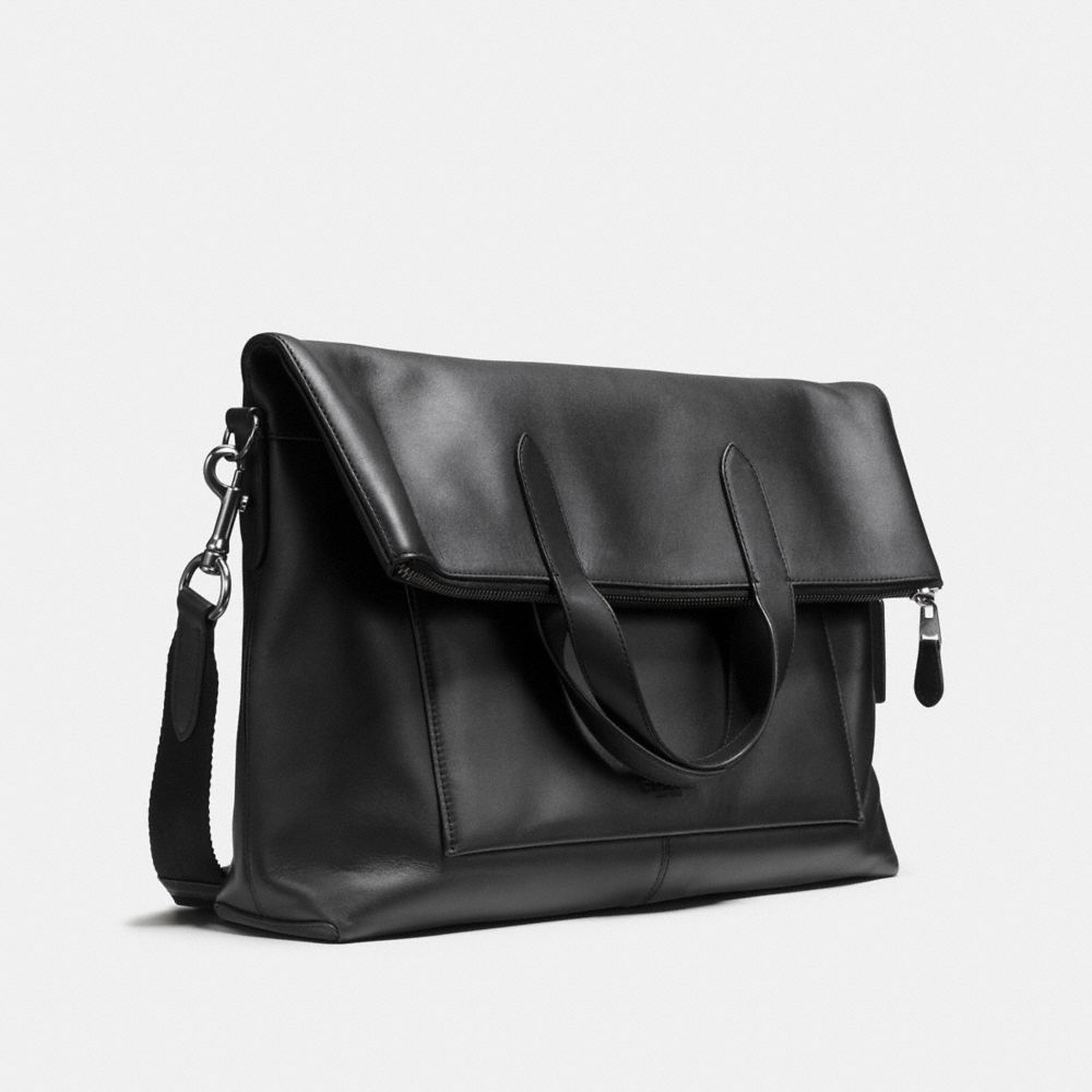Manhattan Foldover Tote in Leather - Alternate View A2