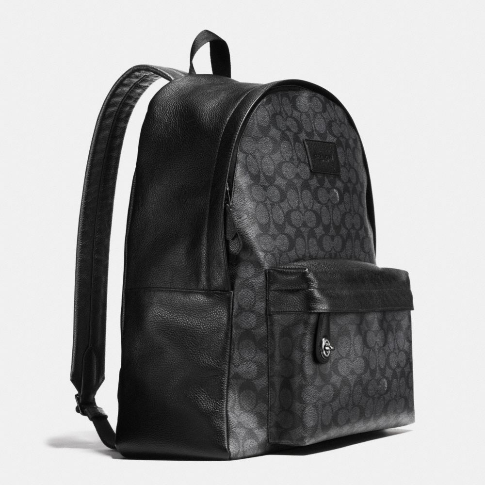 Campus Backpack in Signature Coated Canvas - Alternate View A2