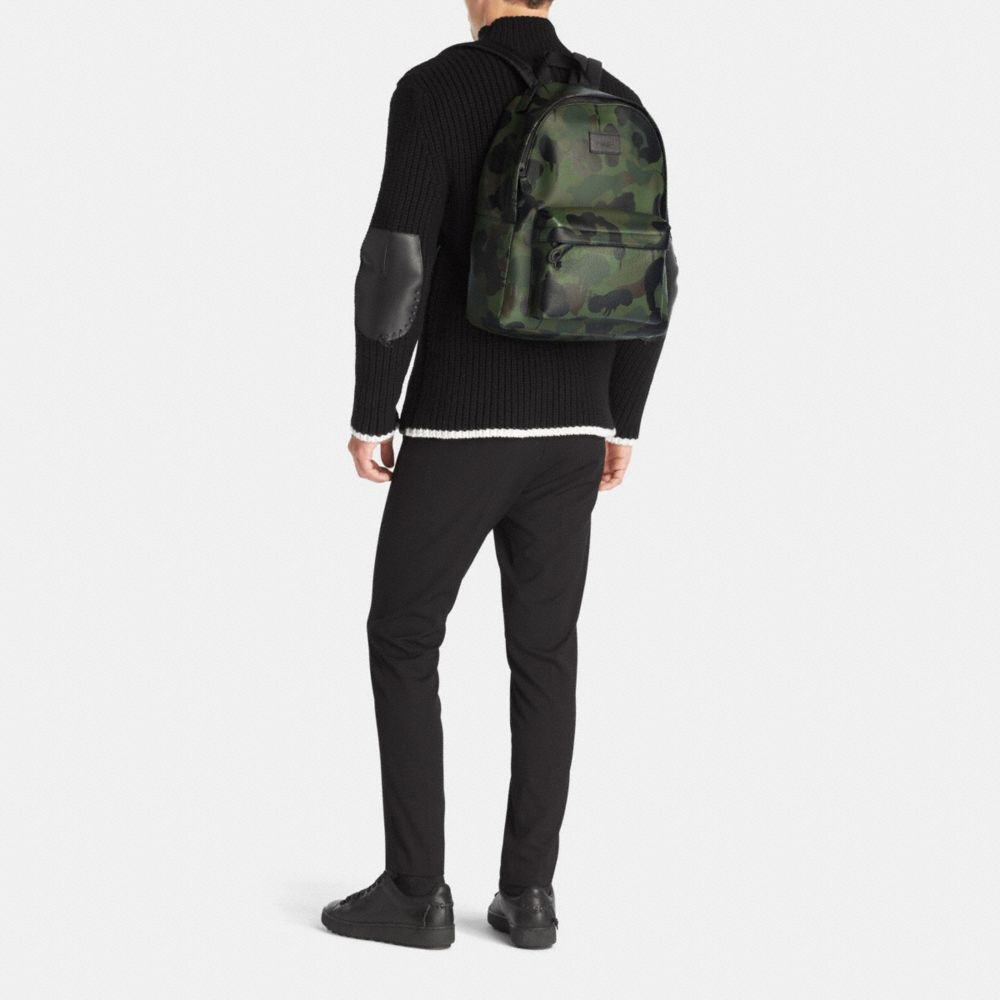 Campus Backpack in Printed Pebble Leather - Alternate View M