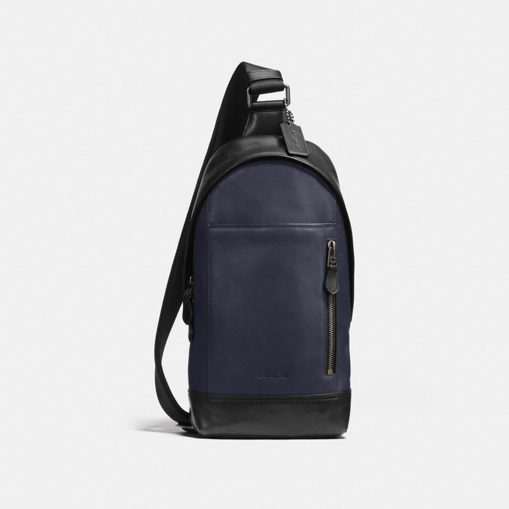 MANHATTAN SLING PACK IN SPORT CALF LEATHER - Alternate View