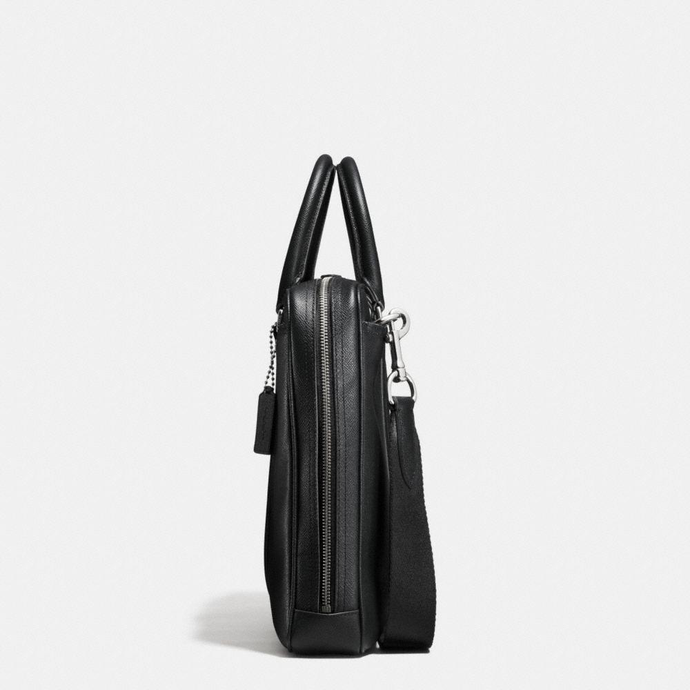 Metropolitan Slim Brief in Crossgrain Leather - Alternate View A1