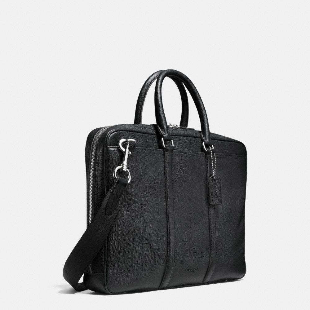 Metropolitan Slim Brief in Crossgrain Leather - Alternate View A2