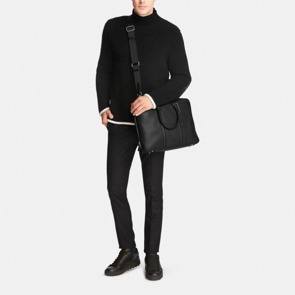 Metropolitan Slim Brief in Crossgrain Leather - Alternate View M