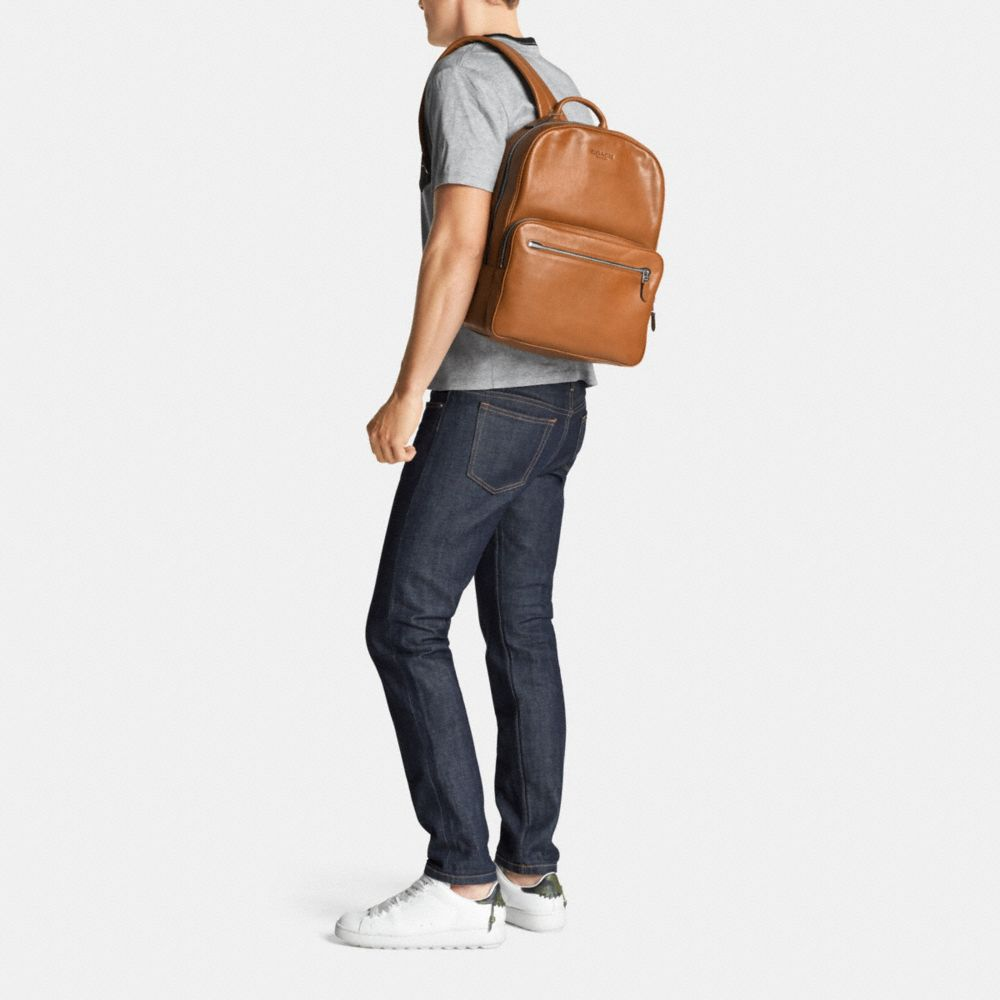 HUDSON BACKPACK IN SPORT CALF LEATHER - Alternate View M1