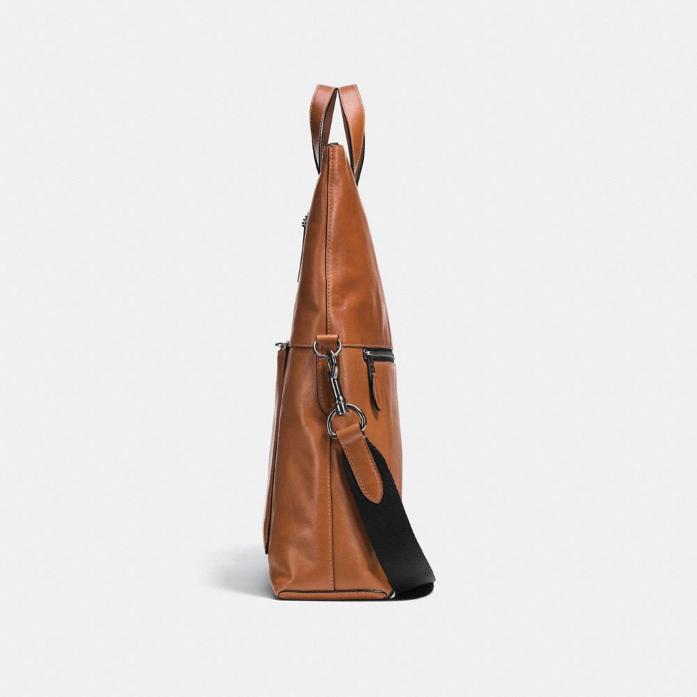 MANHATTAN FOLDOVER TOTE IN SPORT CALF LEATHER - Alternate View