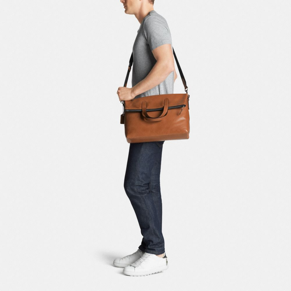 Manhattan Foldover Tote in Sport Calf Leather - Alternate View M
