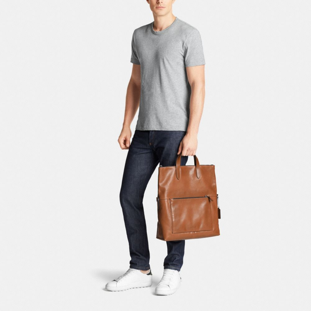 Manhattan Foldover Tote in Sport Calf Leather - Alternate View M2