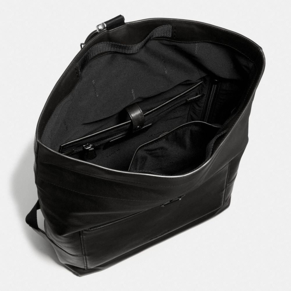 MANHATTAN FOLDOVER BACKPACK IN SPORT CALF LEATHER - Alternate View A3