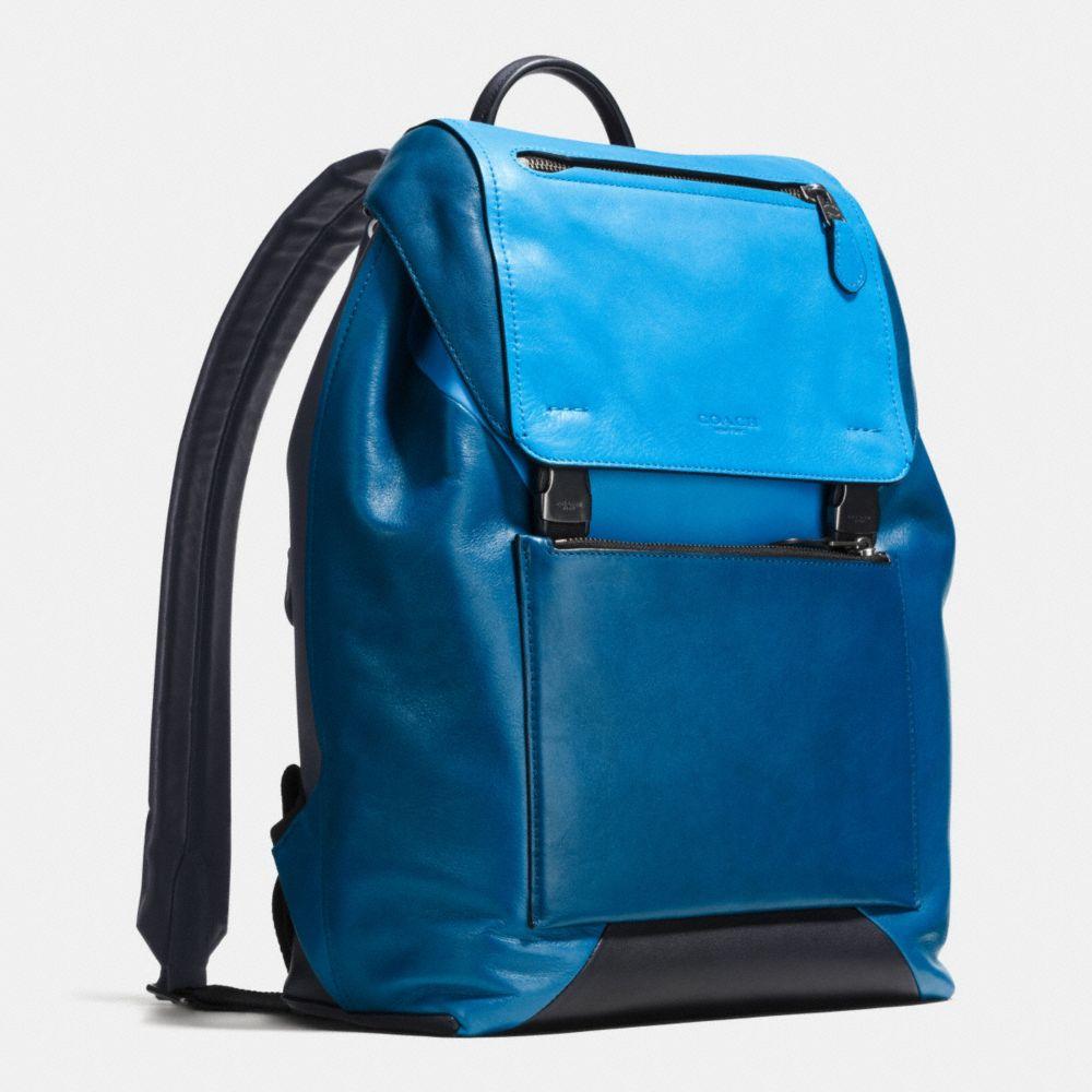 Manhattan Backpack in Sport Calf Leather - Alternate View A2