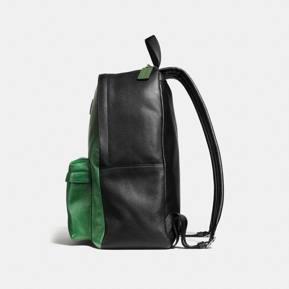 CAMPUS BACKPACK IN PATCHWORK PEBBLE LEATHER - Alternate View A1