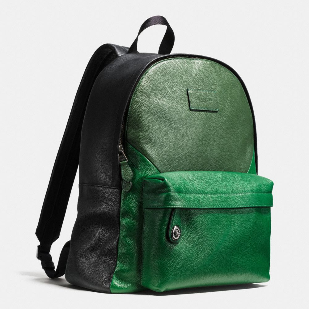 CAMPUS BACKPACK IN PATCHWORK PEBBLE LEATHER - Alternate View A2