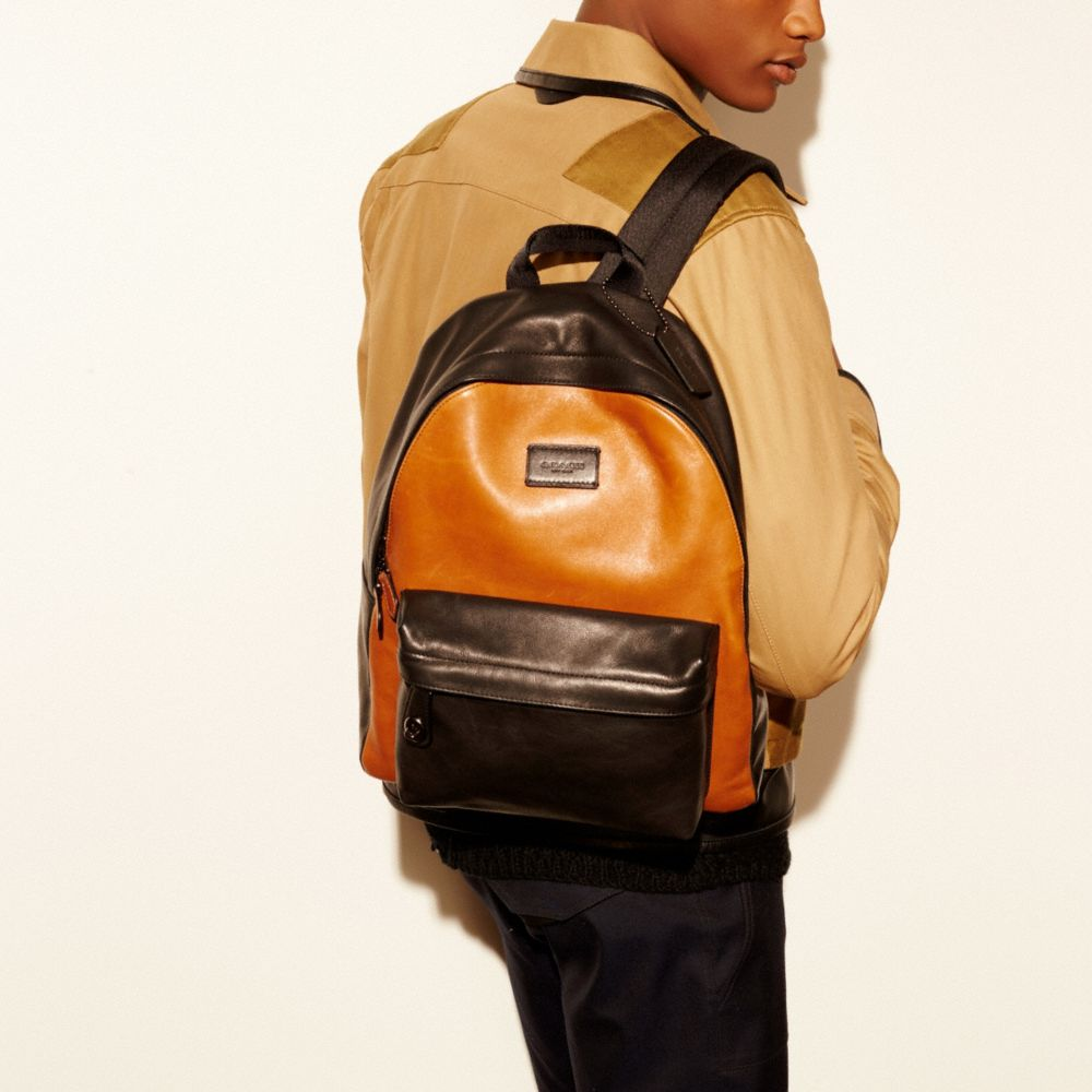 Small Campus Backpack in Sport Calf Leather - Alternate View A4