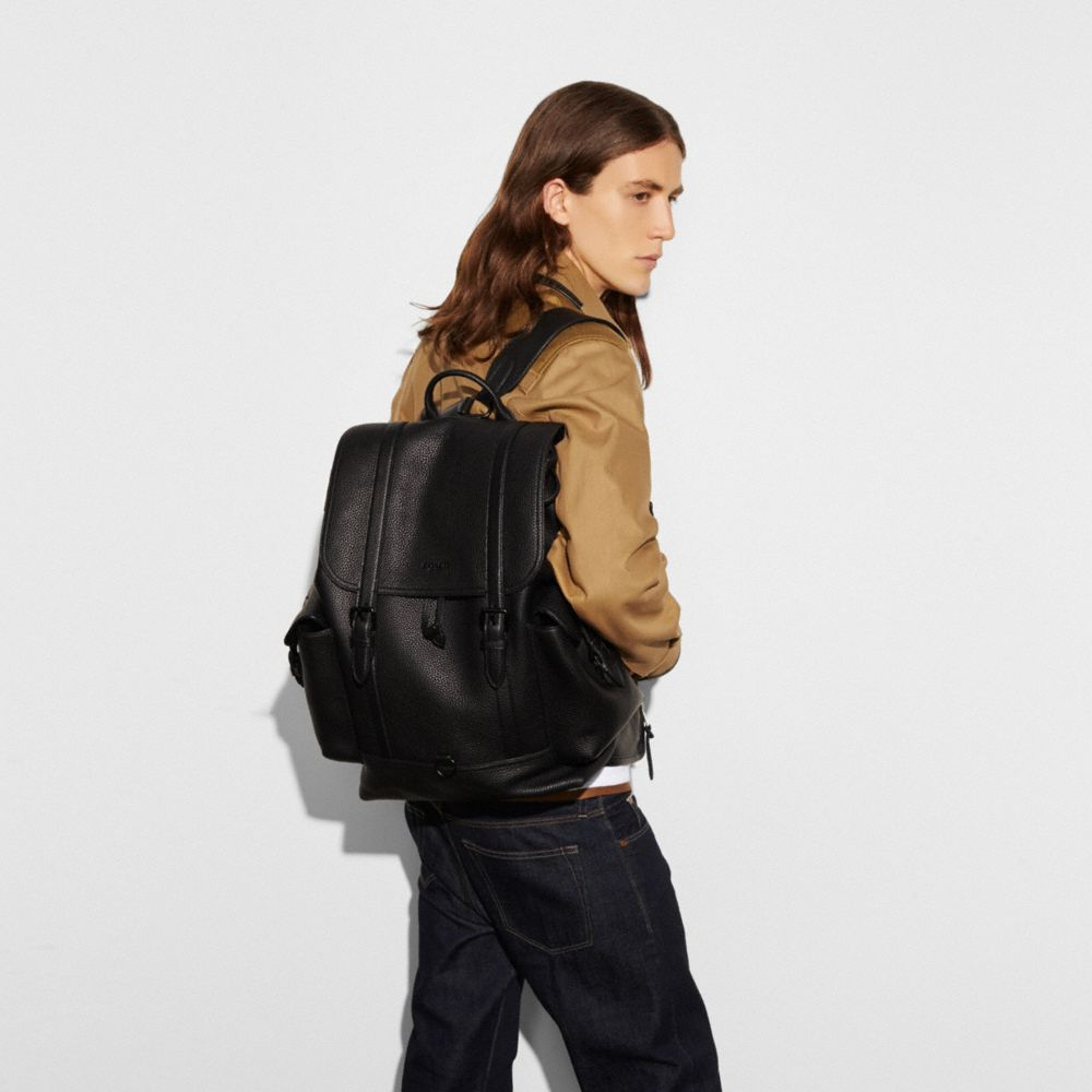 METROPOLITAN RUCKSACK IN PEBBLE LEATHER - Alternate View