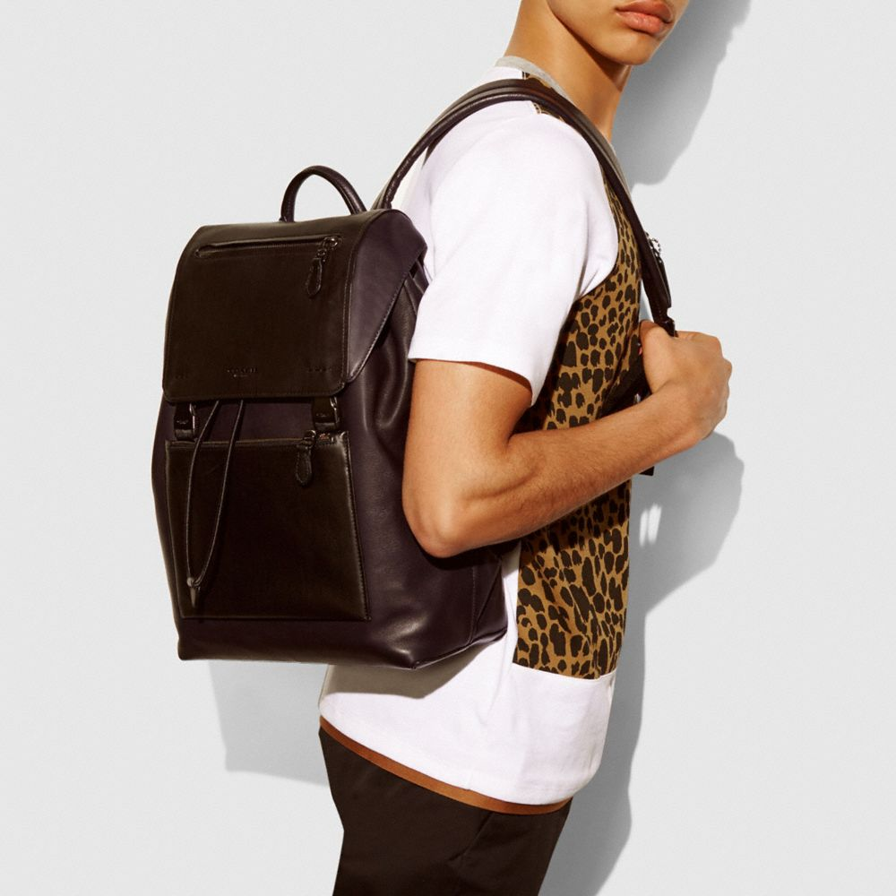 Manhattan Backpack in Sport Calf Leather - Alternate View A4