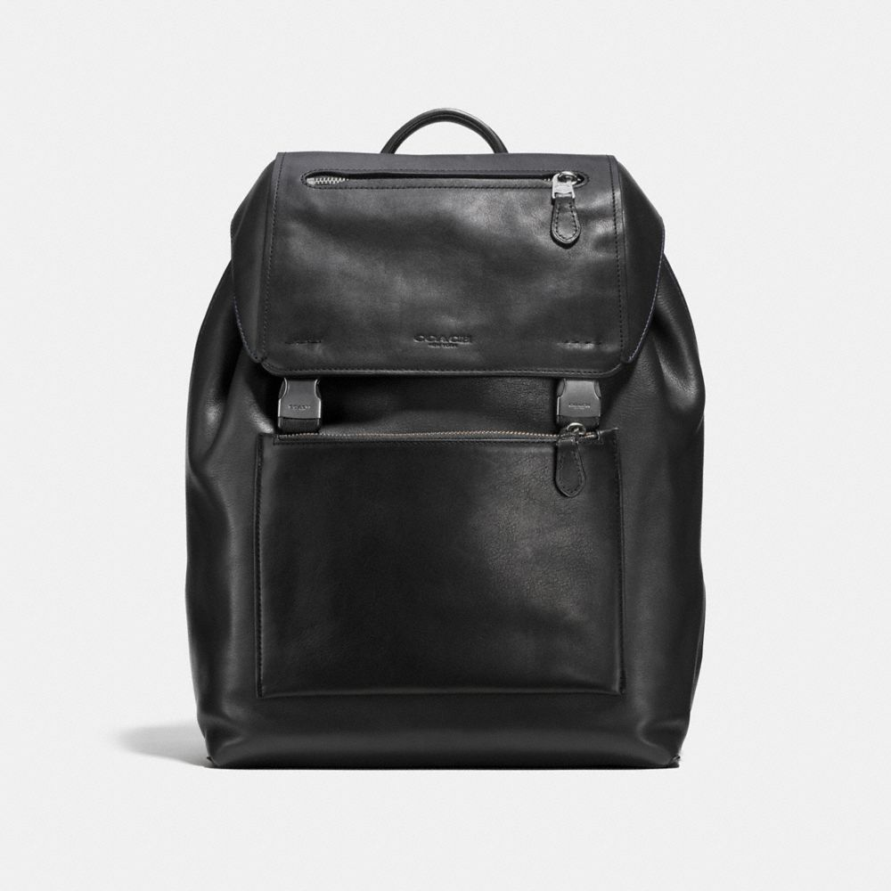MANHATTAN BACKPACK IN SPORT CALF LEATHER - Alternate View