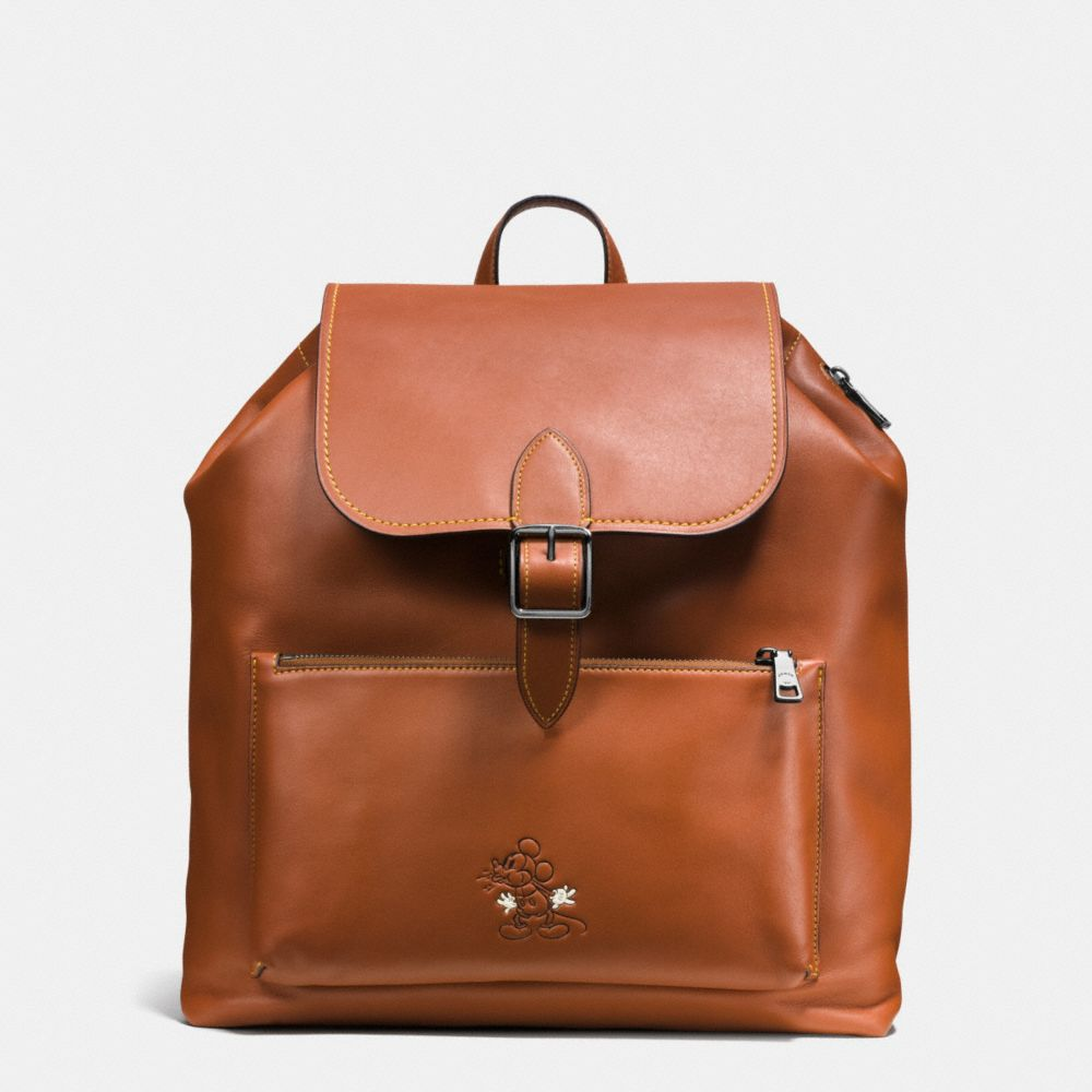 MICKEY RAINGER BACKPACK IN GLOVETANNED LEATHER - Alternate View