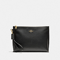 LARGE CHARLIE POUCH - GOLD/BLACK - COACH 72393