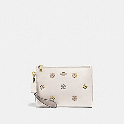 CHARLIE POUCH WITH SCATTERED RIVETS - B4/CHALK - COACH 72399