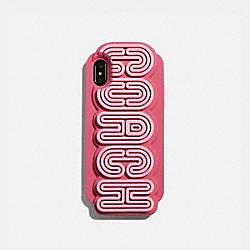 IPHONE X/XS CASE - MULTI/DARK PINK - COACH 72470